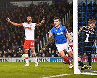 John Marquis of Portsmouth scores and celebrates to make the score 2-1 during Portsmouth vs Rotherham United, Sky Bet EFL League 1 Football at Fratton Park on 26th November 2019