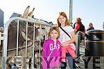 Enjoying the Castleisland Horse fair on Monday were Shauna Collins and  Rebecca Collins from Athea.