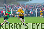 In Action  Emmets Cormac Mulvihill and Beale's Andy O'Connell at  the Bernard O'Callaghan Memorial Senior Football Championship final last Saturday Beale V Listowel Emmets