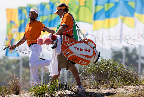 14.08.2016. Rio de Janeiro, Brazil.  Boost Luiten (Netherlands) in action, final round, Men's Individual Stroke Play Round 4 of the Golf events during the Rio 2016 Olympic Games at the Olympic Golf Course in Rio de Janeiro, Brazil, 14 August 2016.