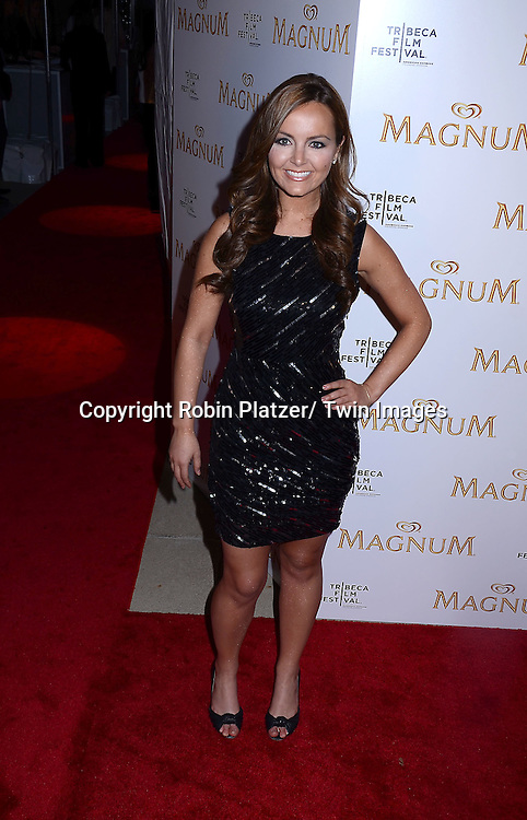 Nicole Lapin attending The premiere of the Magnum Ice Cream Film Series during the Tribeca Film Festival on April 21, 2011 at The IAC Building in New York City.