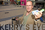 A STICKY ISSUE: Miche?al O'Coileain of Kerry County Council is launching an awareness campaign on chewing gum litter in Tralee town square on Thursday morning (today).