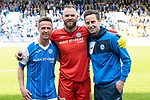 St Johnstone v Ross County&hellip;12.05.18&hellip;  McDiarmid Park    SPFL<br />The departing trio Chris Millar, Alan Mannus and Steven MacLean<br />Picture by Graeme Hart. <br />Copyright Perthshire Picture Agency<br />Tel: 01738 623350  Mobile: 07990 594431