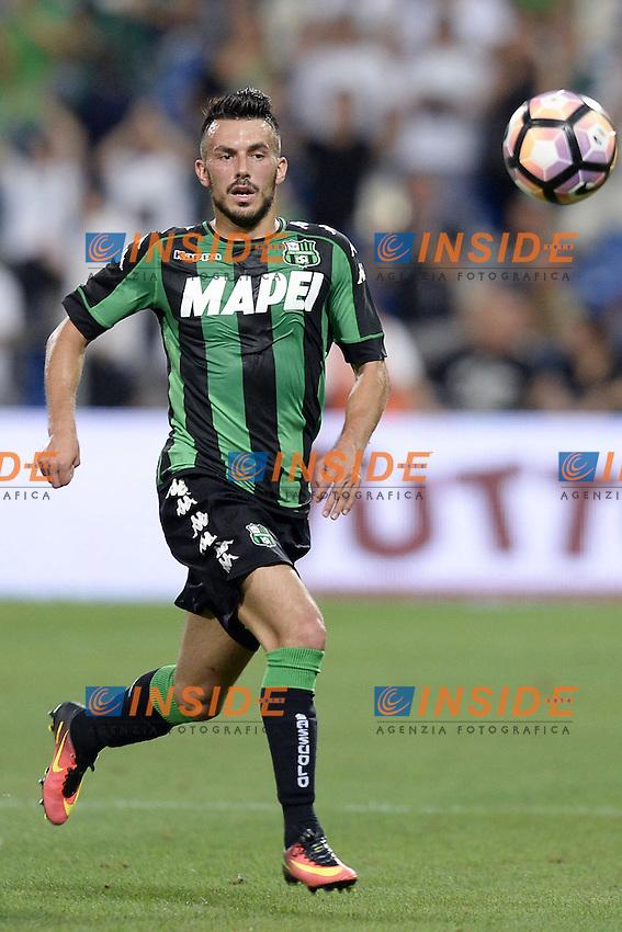Nicola Sansone<br /> Reggio Emilia 04-08-2016 Stadio Mapei Football Calcio Europa League 2016/2017 Sassuolo - Lucerna. Foto Daniele Buffa / Image Sport / Insidefoto