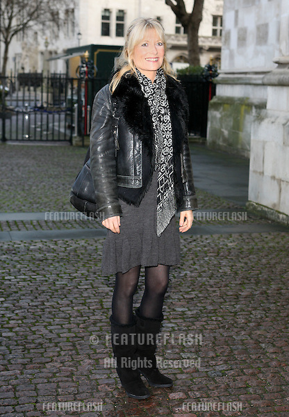 Gabby Roslin arriving for Children Of Courage service, Westminster Abbey, London. 09/12/2009. Picture by:   Alexandra Glen / Featureflash