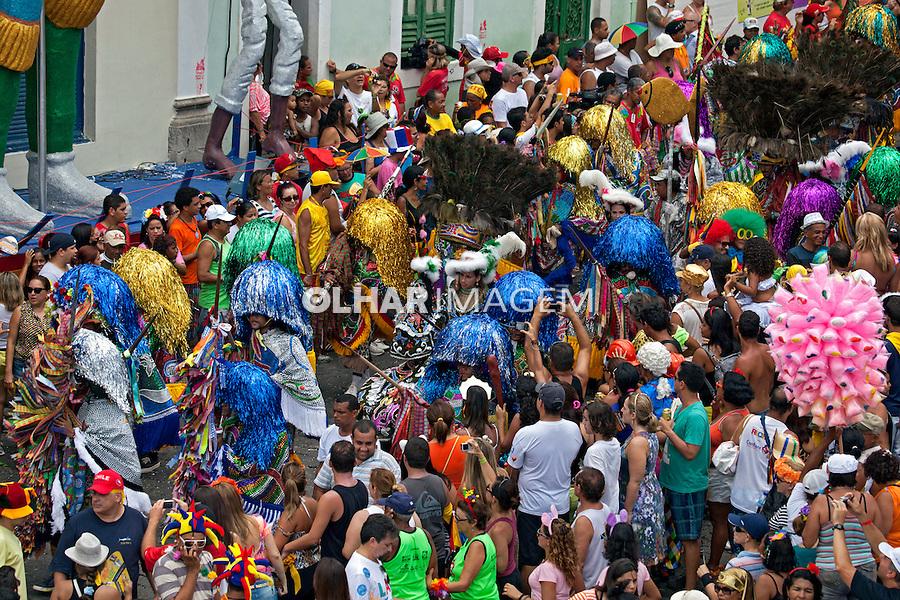 Desfile de maracatu no carnaval de rua de Olinda. Pernambuco. 2013. Foto de Rogerio Reis.