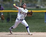 Western Nevada College's Meghan Hospodka makes a play against the College of Southern Nevada on Friday, May 2, 2014, in Carson City, Nev.<br /> Photo by Cathleen Allison/Nevada Photo Source