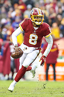 Landover, MD - December 9, 2018: Washington Redskins Josh Johnson (8) runs the ball during the  game between New York Giants and Washington Redskins at FedEx Field in Landover, MD.   (Photo by Elliott Brown/Media Images International)