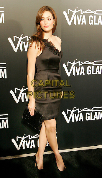 EMMY ROSSUM.VIVA GLAM VI Dinner at Cedar LakeNew York, NY, USA. .September 5th, 2006.Ref: ADM/JL.full length dress one shoulder black .www.capitalpictures.com.sales@capitalpictures.com.©Jackson Lee/AdMedia/Capital Pictures.