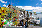 The fishingvillage of Friendship, Maine, USA