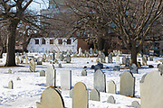 Old Burying ground in Salem, Massachusetts, USA