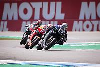 MAVERICK VINALES - SPANISH - MONSTER ENERGY YAMAHA MotoGP - YAMAHA<br /> MARC MARQUEZ - SPANISH - REPSOL HONDA TEAM - HONDA<br /> FABIO QUARTARARO - FRENCH - PETRONAS YAMAHA SRT - YAMAHA<br /> Assen 30/06/2019  <br /> Moto Gp Paesi Bassi Olanda 2019 <br /> Foto Vincent Guignet / Panoramic / Insidefoto