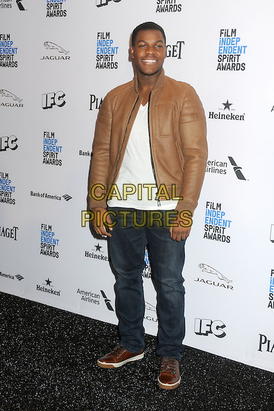 24 November 2015 - Hollywood, California - John Boyega. 2016 Film Independent Spirit Awards Nomination Announcement held at The W Hotel. <br /> CAP/ADM/BP<br /> &copy;BP/ADM/Capital Pictures