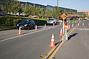 Monitoring traffic during construction. The cities of Palo Alto and Mountain View are jointly constructing a reclaimed water pipeline to carry recycled water from the Palo Alto Regional Water Quality Control Plant to customers along East Bayshore Parkway and Mountain View's North Bayshore area.