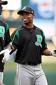 June 13th 2008:  Keltavious Jones of the Dayton Dragons, Class-A affiliate of the Cincinnati Reds, during a game at Stanley Coveleski Regional Stadium in South Bend, IN.  Photo by:  Mike Janes/Four Seam Images