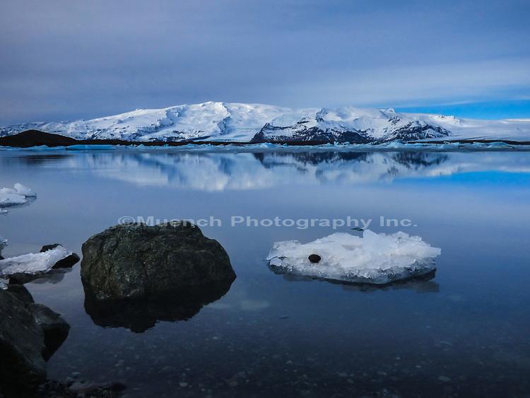 Ice on Jokulsarlon,Glacial River Lagoon,Iceland