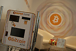 Bitcoin  Compro Euro  First Bitcoin Crypto currency  shop in Italy in Rovereto, Italy, December 11, 2017 ATM