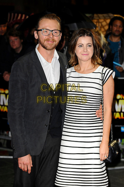 LONDON, ENGLAND - OCTOBER 18: Simon Pegg and Maureen Pegg attend 'Kill Me Three Times' Screening at the 58th BFI London Film Festival at Odeon West End Cinema, Leicester Square on October 18, 2014 in London, England.<br /> CAP/MAR<br /> &copy; Martin Harris/Capital Pictures