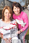 GETTING READY TO WALK: Sisters-in-law Anna Marie and Katie Allen who  are preparing walk in Cambodia..