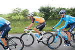Race leader World Champion Alejandro Valverde (ESP) Movistar Team during Stage 2 of the Route d'Occitanie 2019, running 187.7km from Labruguière to Martres-Tolosane, France. 21st June 2019<br /> Picture: Colin Flockton | Cyclefile<br /> All photos usage must carry mandatory copyright credit (© Cyclefile | Colin Flockton)