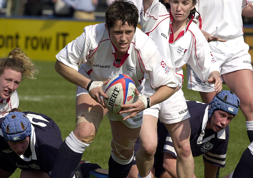 Photo Peter Spurrier.22/03/2003.RBS Six Nations Women's Rugby England v Scotland.Vanessa Huxford