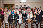 BEST WISHES: Bella Casey (seated centre) celebrates her retirement from Kilgarvan Central National School with.family and friends in the Brehon Hotel, Killarney, last Friday night.