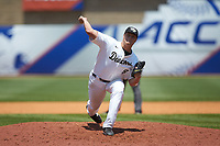 Wake Forest Demon Deacons relief pitcher Colin Peluse (8) in action against the Miami Hurricanes in Game Nine of the 2017 ACC Baseball Championship at Louisville Slugger Field on May 26, 2017 in Louisville, Kentucky. The Hurricanes defeated the Demon Deacons 5-2. (Brian Westerholt/Four Seam Images)