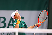 4th June 2017, Roland Garros, Paris, France; French Open tennis championships;   KEI NISHIKORI (JPN)  during day seven match of the 2017 French Open on June 4, 2017, at Stade Roland-Garros in Paris, France.