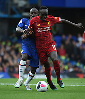 Sadio Mane of Liverpool and N'Golo Kante of Chelsea during the Premier League match between Chelsea and Liverpool at Stamford Bridge on September 22nd 2019 in London, England. (Photo by Zed Jameson/phcimages.com)<br /> Foto PHC/Insidefoto <br /> ITALY ONLY