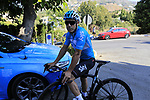 Sir Dave Brailsford Team Sky joins his riders for a morning training ride before Stage 1 of the La Vuelta 2018, an individual time trial of 8km running around Malaga city centre. Mijas, Spain. 23rd August 2018.<br /> Picture: Eoin Clarke | Cyclefile<br /> <br /> <br /> All photos usage must carry mandatory copyright credit (© Cyclefile | Eoin Clarke)