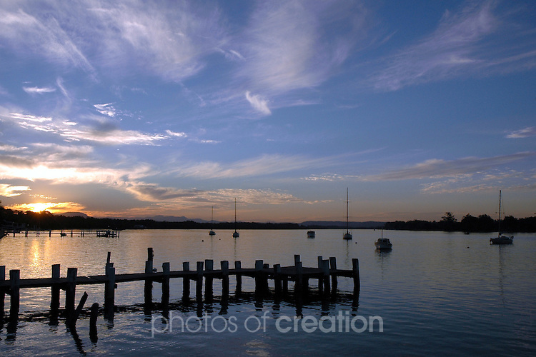 Sundown on Hastings River at Hibbard Port Macquarie. NSW