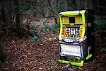 A slot machine lies in the undergrowth at Aokigahara Jukai, better known as the Mt. Fuji suicide forest, in Yamanashi Prefecture west of Tokyo, Japan. .