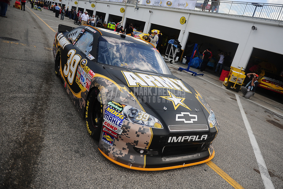 Feb 18, 2011; Daytona Beach, FL, USA; NASCAR Sprint Cup Series driver Ryan Newman in the U.S. Army car during practice for the Daytona 500 at Daytona International Speedway. Mandatory Credit: Mark J. Rebilas-