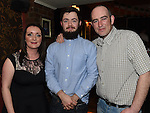 Paul McGovern and his wife Karen and Conor Arnold in Shearman's Bar. Photo:Colin Bell/pressphotos.ie