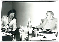 BNPS.co.uk (01202) 558833<br /> Picture: Warhol<br /> <br /> Mick Jagger &amp; writer/performer William Burroughs<br /> <br /> Never-before-seen photographs of celebrities captured in informal moments by the artist Andy Warhol are to be sold. The American pop artist used photography as a medium of art towards the end of his career and had a tendency to snap spontaneous moments. Many of his subjects were showbiz friends who frequented the same nightclubs as Warhol or visited his luxurious beach house or vast 'factory'. They included the likes of John Lennon, Mick Jagger, Elizabeth Taylor, Madonna, Sting, Bruce Springstein, Lizi Minnelli, Diana Ross and Debbie Harry. At the other end of the scale, he also turned his eye to capturing domestic items such as a room service tray, hotel chandeliers and even a row of urinals.