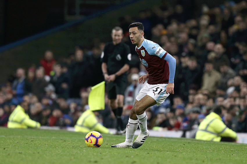Burnley's Dwight McNeil <br /> <br /> Photographer Rich Linley/CameraSport<br /> <br /> The Premier League - Burnley v Everton - Wednesday 26th December 2018 - Turf Moor - Burnley<br /> <br /> World Copyright © 2018 CameraSport. All rights reserved. 43 Linden Ave. Countesthorpe. Leicester. England. LE8 5PG - Tel: +44 (0) 116 277 4147 - admin@camerasport.com - www.camerasport.com