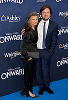 """LOS ANGELES, CA: 18, 2020: Tracey Ullman & Guest at the world premiere of """"Onward"""" at the El Capitan Theatre.<br /> Picture: Paul Smith/Featureflash"""