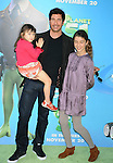WESTWOOD, CA. - November 14: Dylan McDermott and daughters Charlotte and Colette arrive to the Los Angeles premiere of 'Planet 51' at the Mann Village Theatre on November 14, 2009 in Westwood, California.