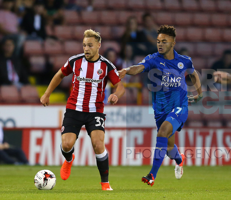 Harry Chapman of Sheffield Utd during the Checkatrade Trophy match at Bramall Lane Stadium, Sheffield. Picture date: August 30th, 2016. Pic Simon Bellis/Sportimage