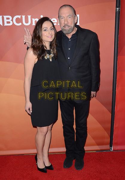 14 January  - Pasadena, Ca - Farnoosh Torabi, John Paul DeJoria. NBC Universal Press Tour Day 2 held at The Langham Huntington Hotel.  <br /> CAP/ADM/BT<br /> &copy;BT/ADM/Capital Pictures