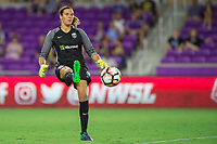 Orlando, FL - Thursday September 07, 2017: Lydia Williams during a regular season National Women's Soccer League (NWSL) match between the Orlando Pride and the Seattle Reign FC at Orlando City Stadium.