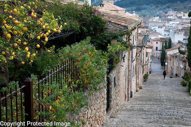 Calvari Pilgrim Steps in Pollenca, Majorca, Spain