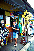 The See and Sea store in the town of Haleiwa offers a wide variety of items for the ocean sports enthusiast. Located on the north shore of oahu.