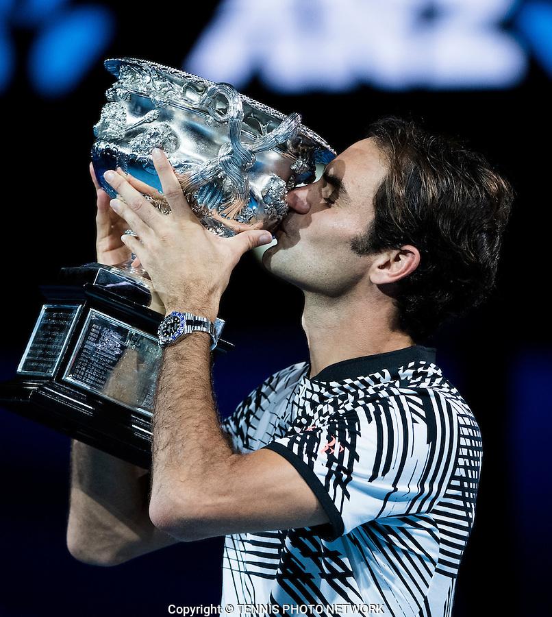 ROGER FEDERER (SUI)<br /> <br /> TENNIS , AUSTRALIAN OPEN,  MELBOURNE PARK, MELBOURNE, VICTORIA, AUSTRALIA, GRAND SLAM, HARD COURT, OUTDOOR, ITF, ATP, WTA<br /> <br /> &copy; TENNIS PHOTO NETWORK