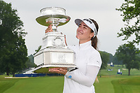Hannah Green (AUS) and the trophy for winning the 2019 KPMG Women's PGA Championship, Hazeltine National, Chaska, Minnesota, USA. 6/23/2019.<br /> Picture: Golffile | Ken Murray<br /> <br /> <br /> All photo usage must carry mandatory copyright credit (© Golffile | Ken Murray)