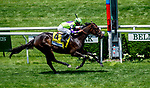 June 8, 2019 : #4, Rushing Fall, ridden by jockey Javier Castellano, wins the Longines Just a Games Stakes on Belmont Stakes Festival Saturday at Belmont Park in Elmont, New York. John Voorhees/Eclipse Sportswire/CSM