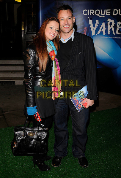 "TOBY ANSTIS & GUEST.Attending the Cirque Du Soleil ""Varekai"" Premiere at the Royal Albert Hall, London, England, January 8th 2007..full length .CAP/CAN.©Can Nguyen/Capital Pictures"