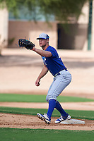 Kansas City Royals Taylor Ostrich (40) during an instructional league intersquad game on October 21, 2015 at the Papago Baseball Facility in Phoenix, Arizona.  (Mike Janes/Four Seam Images)