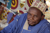 Baleyara, Niger, West Africa.  Nigerien Muslim Market Trader, Alhaji Garba.  The title Alhaji tells us that this man has made the pilgrimage to Mecca. Portraits of Hausa ethnic group, men, women, children, of Niger.  Tell us what you need.