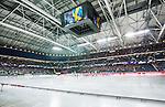 Solna 2014-03-16 Bandy SM-final herrar Sandvikens AIK - V&auml;ster&aring;s SK :  <br /> Vy &ouml;ver bandyplanen p&aring; Friends Arena under lineup med Sandvikens och V&auml;ster&aring;s n&auml;r Svenska Nationals&aring;ngen spelas <br /> (Foto: Kenta J&ouml;nsson) Nyckelord:  SM SM-final final herr herrar VSK V&auml;ster&aring;s SAIK Sandviken  inomhus interi&ouml;r interior